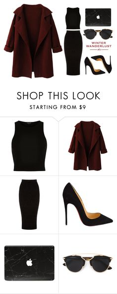 """Untitled #90"" by rodoulla97 on Polyvore featuring River Island, WithChic, Warehouse, Christian Louboutin, Christian Dior, American Eagle Outfitters, women's clothing, women's fashion, women and female"