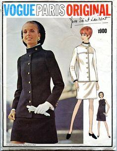 Vogue 1900 Paris Original One-Piece DRESS Pattern Standing