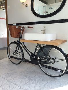 Bike & Basin - yet another way to use a bicycle ! Great fun !