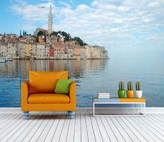 Custom Wall Murals, Wall Decals, Mural Wall, Outdoor Sofa, Outdoor Furniture, Outdoor Decor, Seaside Style, Seaside Towns, 3d Wallpaper