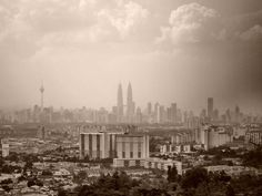 Kuala lumpur malaysia skyline aerial.