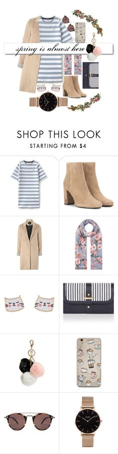 """""""sun is up!:)"""" by lorashy on Polyvore featuring Lacoste L!VE, Yves Saint Laurent, mel, Accessorize, White Label, GUESS, Oliver Peoples, CLUSE and Nearly Natural"""