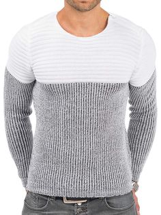 Pullover Herren Strickpullover Winter Pulli Tazzio Slim Fit Langarm Shirt Weiß S: Amazon.de: Bekleidung