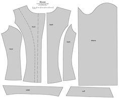 SD BJD (i-Doll) female blouse by ~scargeear on deviantART