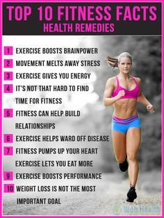 Top 10 fitness facts Health remedies : if only the infograph had #8...