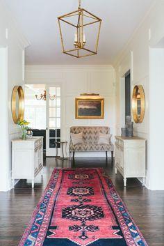 rug + light fixture Kate Marker Interiors | Foyer