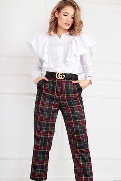 Spodnie Scottish w kratkę Retro Style, Retro Fashion, Neutral, Blouse, Long Sleeve, Sleeves, Outfits, Clothes, Tops