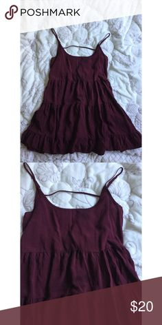 ▪️Brandy Melville Maroon Jada • Brandy Melville • Maroon Cotton Jada Dress • One size  • 8/10 Condition, has two dark spots on the front. Sold as is. • No Try - Ons  • No Trades Brandy Melville Dresses