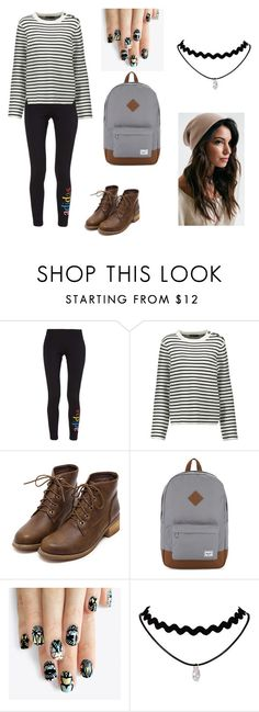 """""""Madeline Blackwell"""" by geek-freak28 on Polyvore featuring adidas Originals, Maje, Herschel Supply Co. and alfa.K"""