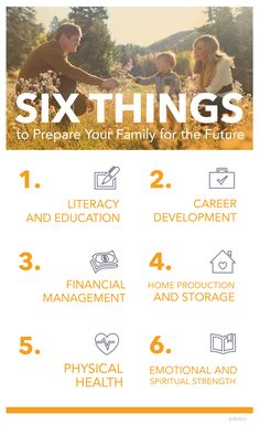 6 things you can do to prepare your family for anything. Marriage And Family, Family Life, Provident Living, Education And Development, Relief Society Activities, Self Reliance, Family Home Evening, Emergency Preparation, Family Values