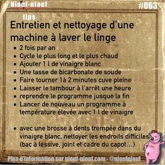 Tips Niouf-niouf : Entretien et nettoyage d'une machine à laver le linge #linge…                                                                                                                                                     Plus