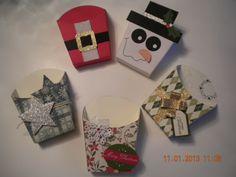 stampin up french fry box Diy Christmas Gifts For Friends, Inexpensive Christmas Gifts, 3d Christmas, Christmas Paper Crafts, Stampin Up Christmas, Christmas Projects, Christmas Favors, Scrapbooking 3d, Fry Box