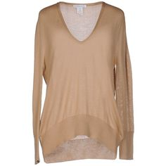 Lamberto Losani Sweater (€135) ❤ liked on Polyvore featuring tops, sweaters, camel, lightweight sweaters, cashmere jumpers, lightweight v neck sweaters, long sleeve v neck sweater and long sleeve sweater