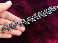 Making bracelets with beads - Leafy Vine Beaded Bracelet – Making bracelets with beads Seed Bead Jewelry, Diy Jewelry, Handmade Jewelry, Jewelry Design, Fashion Jewelry, Jewelry Ideas, Handmade Beads, Silver Jewelry, Handmade Bracelets