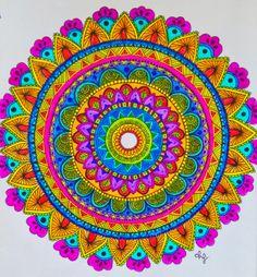 ❤⊰❁⊱ Mandala ⊰❁⊱ Zentangle Art Daniela Hoyos Art insta- danielahoyos