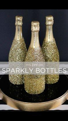knallend met deze champagne flessen het nieuwe jaar in. Ook erg mooi voor op tafel