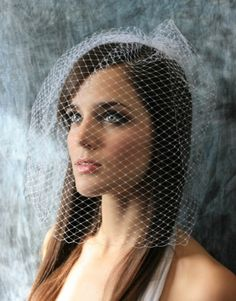 Long Black Birdcage Veil French Net Veil