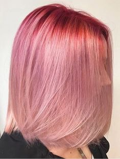 Rosy/pink blonde hair colors newest & modern hair color trends for stylish women in 2017-2018.