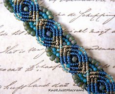 Knot Just Macrame by Sherri Stokey: Peacock Bracelet - A New Micro ...