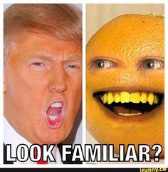 Annoying orange vs Donald Trump
