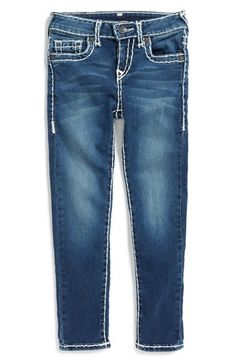True Religion Brand Jeans 'Casey' Skinny Jeans (Toddler Girls & Little Girls) available at #Nordstrom