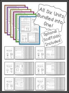 First Grade Math Journal through the Year