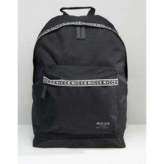 Nicce Backpack With Tape Detail (5075 RSD) ❤ liked on Polyvore featuring men's fashion, men's bags, men's backpacks, black and nicce