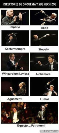 Directores de orquesta y sus hechizos. Orchestra directors and their spells