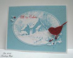 Snowy Postcard, aqua