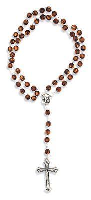 Catholic Cat's Eye Rosary - Made in Italy