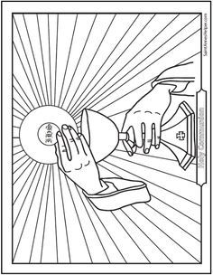 Confession Coloring Page: Penance And Reconciliation