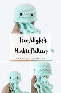 Need a quick and easy summer crochet project? Meet Jenni the Crochet Jellyfish! She's a great beginner project and perfect for craft fairs Easy Crochet Stitches, Quick Crochet, Cute Crochet, Crochet Crafts, Yarn Crafts, Crochet Toys, Crochet Ideas, Crochet Projects, Diy Projects