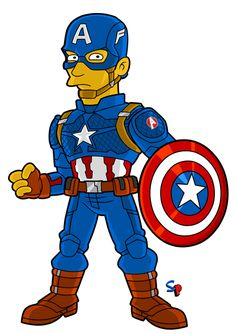 Springfield Punx: Search results for captain america Captain America Drawing, Captain America Funny, Simpsons Characters, Simpsons Art, Comic Book Collection, Superhero Design, Geek Humor, Silver Surfer, Anime Naruto