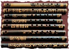 Beautiful flutes carved by another Linda