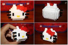 3D Perler Bead Hello Kitty by katrivsor.deviantart.com on @deviantART