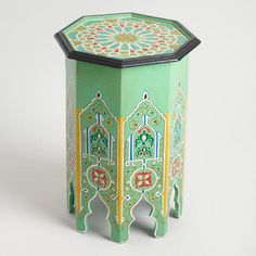 Turquoise Hexagonal Marrakech Occasional Table - v1