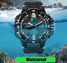 SANDA Fashion Watch Men Waterproof LED Sports Military Watch Shock Resistant Men's Analog Quartz Digital Watch relogio masculino Oh just take a look at this!  #shop #beauty #Woman's fashion #Products #Watch