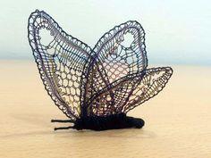 Bobbin Lacemaking, Lace Art, Lace Jewelry, Needle Lace, Lace Making, Simple Art, Lace Detail, Wicker, Butterfly