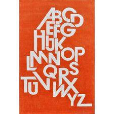 ABC Hand Tufted Mandarin Orange Area Rug