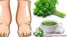 Swollen Feet Remedies This Powerful Homemade Tea Cures Swollen Legs in few Days Parsley Tea, Water Retention Remedies, Natural Diuretic, Foot Remedies, Homemade Tea, Unhealthy Diet, Natural Health Remedies, Herbal Remedies, How To Make Tea
