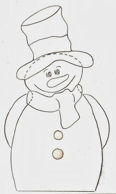 hóember-sablon