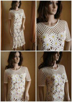 Crochet daisy dress!