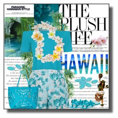 """Hawaiian Floral Shorts"" by cathy1965 ❤ liked on Polyvore featuring Zink, bleu, Nearly Natural, New Look, WearAll, Melissa, Trina Turk, Patrícia Viera and Monsoon"