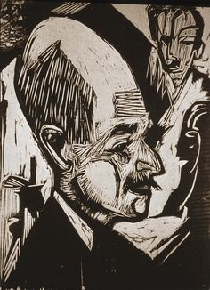 Ernst Ludwig Kirchner ; 'Dr. Bauer'   For those who know my father, does anyone else see the resemblance?