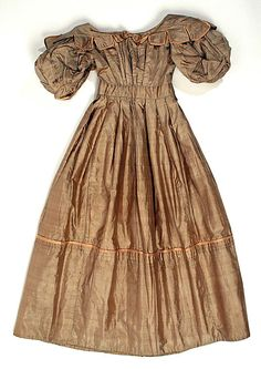 1828 British Silk Dress