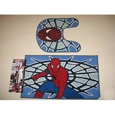 Spiderman Bathroom Set | Spiderman Bath Mat 2PC Rug Set: Home U0026 Kitchen