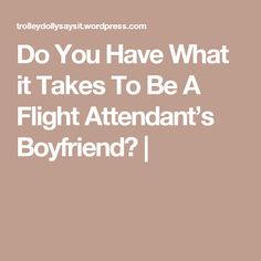 Do You Have What it Takes To Be A Flight Attendant's Boyfriend? |