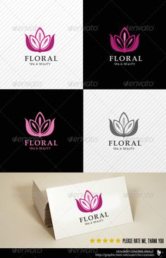 Floral Beauty Spa - Logo Design Template Vector #logotype Download it here: http://graphicriver.net/item/floral-beauty-spa-logo-template/2436615?s_rank=1314?ref=nesto