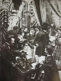 French draper's shop. Late 1850s or very early 1860s.