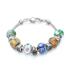 Pugster Murano Glass Beads Fit Pandora Chamilia Biagi Charm Bracelet Pugster. $49.99. Color: silver,colorful. Metal: metal,murano glass. Weight (gram): 42.6. Size (mm): 240*14.83*14.83
